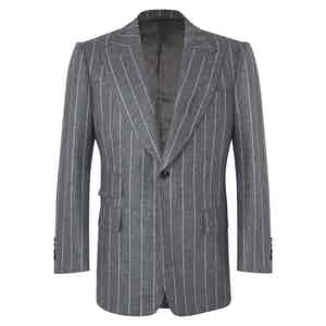 Grey Chalkstripe VBC Flannel Jacket