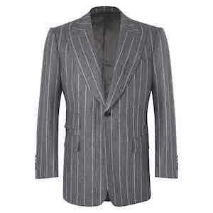 Grey Chalkstripe VBC Flannel Jacket