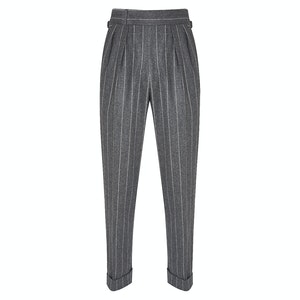 Grey Chalkstripe VBC Flannel Trousers