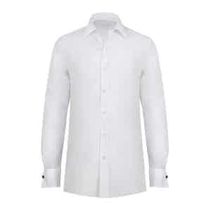 White Cotton Double Cuff Shirt