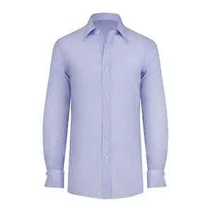 Light Blue Cotton Double Cuff Shirt
