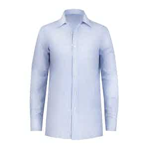 Light Blue Striped Cotton Shirt