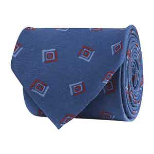 Azue Silk Twill Geometric Print Tie