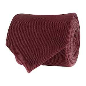 Bordeaux Wool Twill Tie