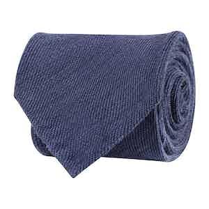 Blue Wool Twill Tie