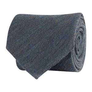 Grey Wool Twill Tie