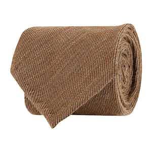 Neutral Wool Twill Tie