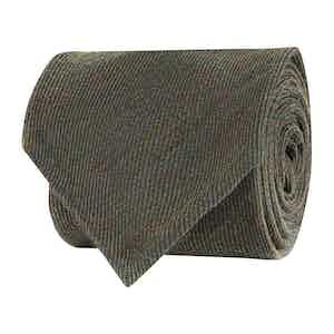 Green Wool Twill Tie