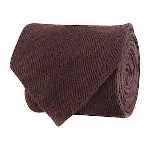 Poppy Red Wool Twill Tie