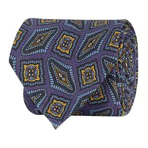 Light Purple Paisley Silk Twill Tie