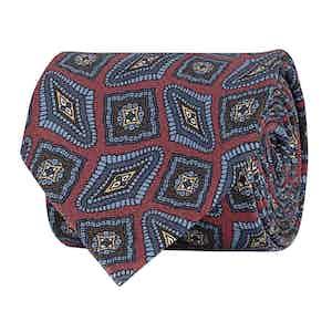 Scarlet Paisley Silk Twill Tie