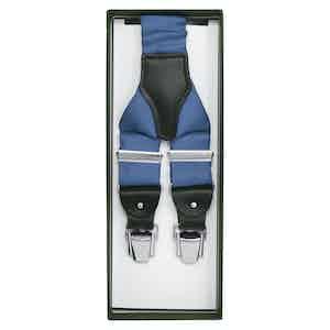 Fair Light Blue Silk Braces