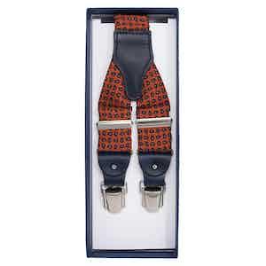 Orange Paisley Silk Braces