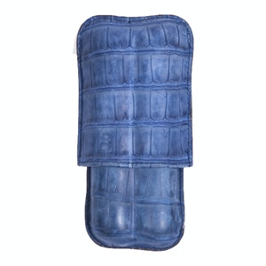 Japanese Blue Porosus Crocodile Two-Cigar Case