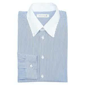 Navy Oxford Cotton Button-Down Shirt
