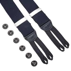 Navy Linen Braces