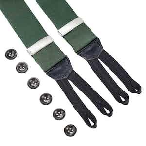 Green Linen Braces
