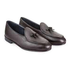 Dark Brown Deer Leather Marphy Loafer