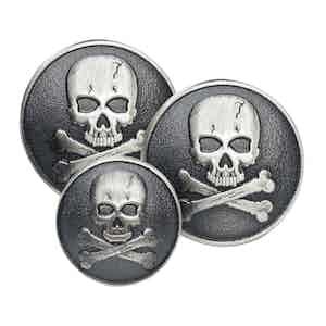 Skull & Crossbones Double Breasted Blazer Button Set