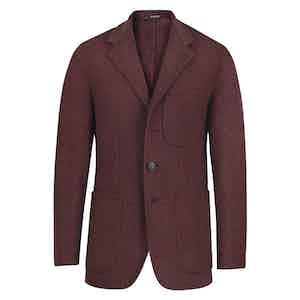 Red Cashmere Blazer