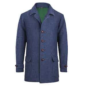 Blue Wool Casual Blazer