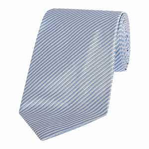 Blue & Silver Bengal Stripe Silk Tie