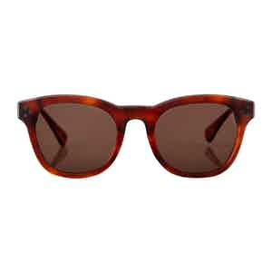 Light Tortoiseshell Hughes Sunglasses