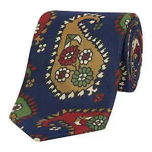 Multi Colour Floral Print Silk Tie