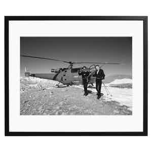 Agnelli Goes Skiing, Black and White Print