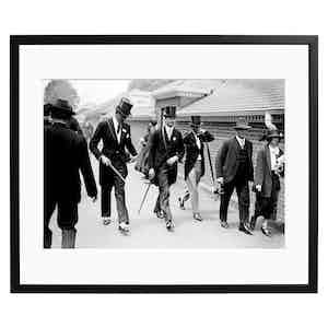 Horse Racing at The Royal Ascot, Black and White Print
