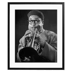 Dizzy Gillespie, 1948, Black and White Print