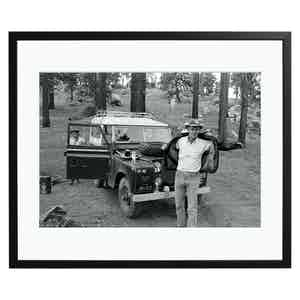 Steve McQueen Camping, Black and White Print