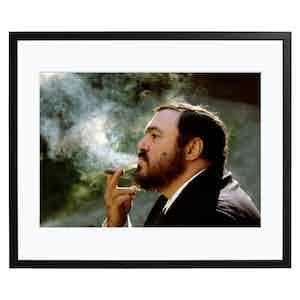 Pavarotti Smoking, Colour Print