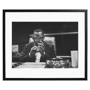 Ray Charles, 1966, Black and White Print