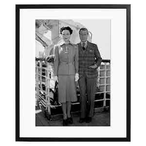 Duke and Duchess of Windsor, 1947, Black and White Print