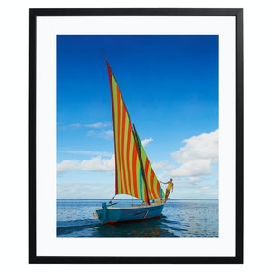 Sailing in Mauritius, Colour Print