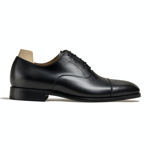 Äppelviken Black Calf Cap Toe Oxford Shoe