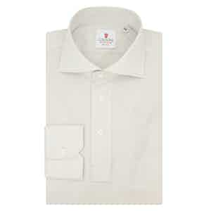 Pearl Cotton Long Sleeve Polo Shirt