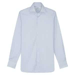Sky Blue Cotton Bengal Stripe with Kent Collar and 2-Button Cuffs Tailored Fit Shirt