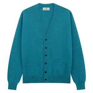 Teal Cashmere Lachlan Cardigan