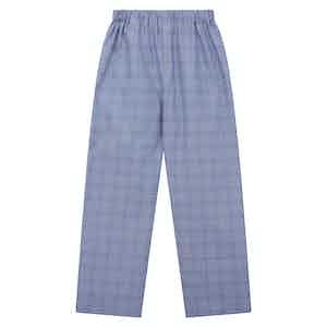 Navy Cotton Check Pyjama Trousers