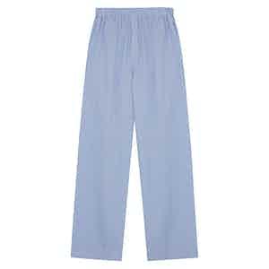 Blue Cotton Stripe Pyjama Trousers