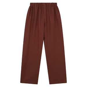 Red Cotton and Cashmere Blend Pyjama Trousers