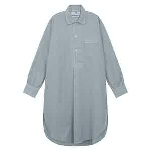 Grey Cotton Striped Nightshirt