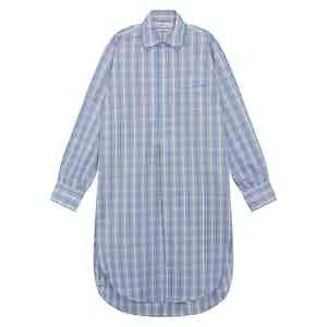 Blue Cotton Checked Nightshirt
