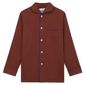 Red Cotton and Cashmere Blend Pyjama Set