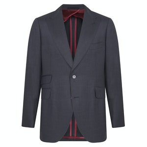 Grey Wool Single-Breasted Marengo Suit