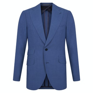 Light Blue Wool Single-Breasted Suit