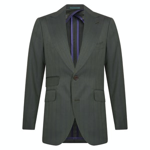 Green Wool Solaire Single-Breasted Jacket