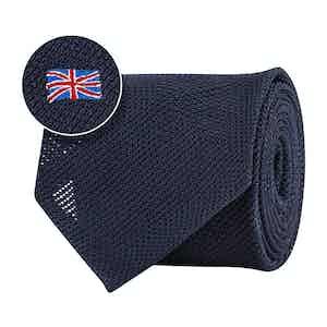 Blue Silk Gauze British Flag Tie